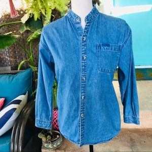 Vintage 90s Original Jordache denim shirt M